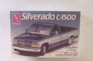 Chevy Silverado C1500 Pickup Truck 6276 AMT 125 Model Kit SEALED