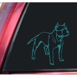 Pit Bull / Pitbull Full Body Vinyl Decal Sticker   Teal