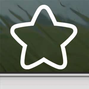 Small Star Outline White Sticker Car Vinyl Window Laptop