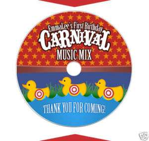 CARNIVAL Birthday Party DVD MUSIC CD Labels