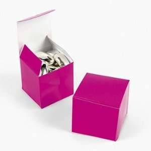 Mini Hot Pink Gift Boxes   Party Favor & Goody Bags & Paper Goody Bags