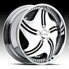 24 DUB REVOLUTION SPINNER CHROME WHEEL SET