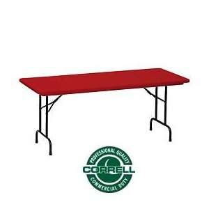 Blow Molded Commercial Duty Folding Table 30 X 72, Red