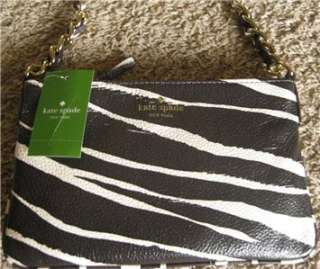 KATE SPADE NEW YORK COBBLE HILL ZEBRA CROSS BODY PURSE BAG NWT $225