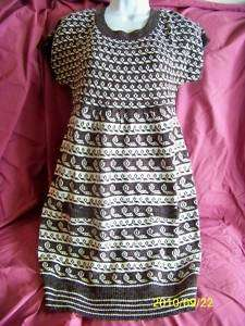 NWT Hessi crew neck Tunic Sweater Dress Women sz S M L