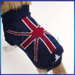 Puppy Pet Dog Pullover Turtleneck Sweater Coat Clothes Winter Fall