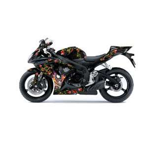 Ed Hardy AMR Racing Suzuki Gsxr 600/750 Sport Bike Graphic Kit Graphic