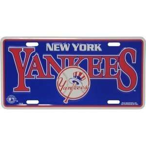 MLB NEW YORK YANKEES METAL License Plate Tag  Sports