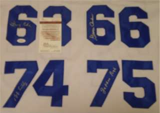 DOOMSDAY DEFENSE SIGNED DALLAS COWBOYS JERSEY BOB LILLY JETHRO PUGH