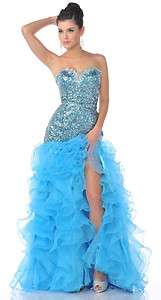 Sequins/Stone Ruffle Pageant Evening Gown Formal / Party / Prom dress