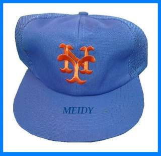 VINTAGE NEW YORK METS BASEBALL CAP MESH TRUCKER HAT NWT