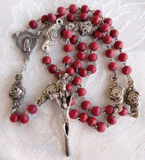 WONDERFUL VINTAGE POPE PAUL JOHN II ROSES PETALS ROSARY.IN ORIGINAL