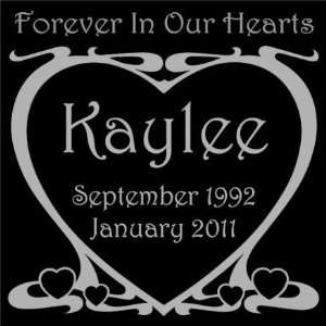 Personalized Black Granite Pet Memorial Marker Style Kaylee Pet