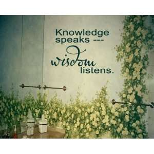 Speaks    Wisdom Listens Sports Vinyl Wall Decal Sticker Mural Quotes