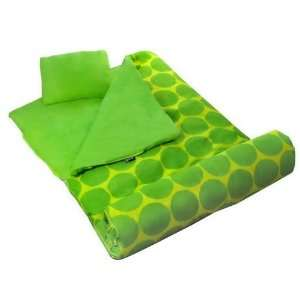 Wildkin Big Dots   Green Sleeping Bag