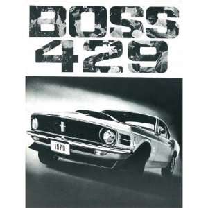 1970 FORD BOSS 429 Sales Brochure Literature Book