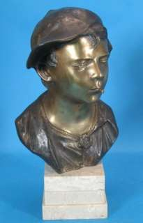 Fine 1890s Signed Antique 16 Italian Bronze Sculpture