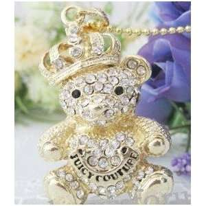 8GB Crystal Juicy Bear USB Flash Drive with Necklace