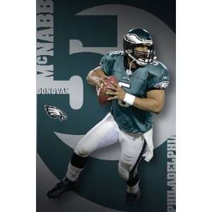 Donovan McNabb (With Football) Sports Poster Print   24 X 36