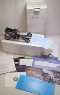 Vintage 1907 ROLLS ROYCE SILVER GHOST Car 124 Scale Model Toy