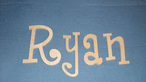 Wood Wall Letters $7 ship Wooden Name Nursery Child Baby Gift
