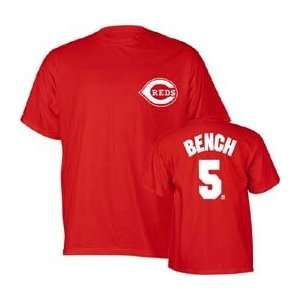 Johnny Bench Name and Number T Shirt   XX Large