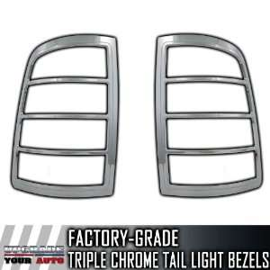 2009 2012 Dodge Ram SES Chrome Tail Light Bezels