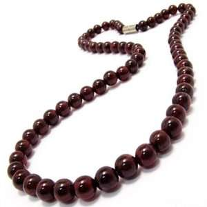 Natural Garnet Crystal Beaded Necklace Jewelry Everything