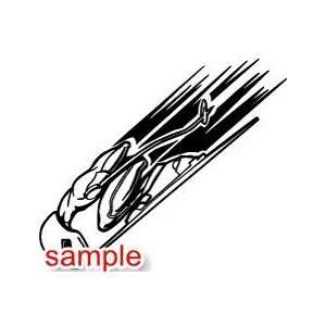 SPORTS SPEED SKIER 10 WHITE VINYL DECAL STICKER