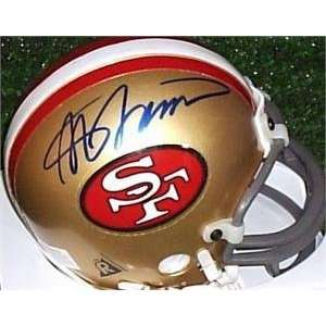Steve Spurrier autographed Football Mini Helmet (San Francisco 49ers