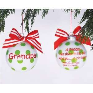 Grandpa Personalization Christmas Ornament by Mud Pie