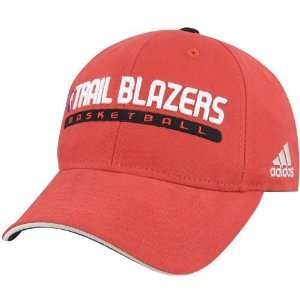 adidas Portland Trail Blazers Red Official Team Hat