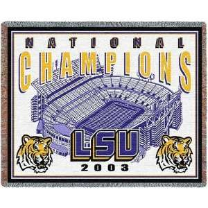 Louisiana State Univ National Champs   69 x 48 Blanket/Throw   LSU