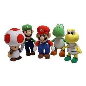 Super Mario Plush 5 Piece Set Toys & Games