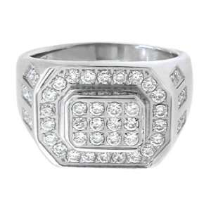 Rings 316L Stainless Steel Bling, Big & Tall   Size 14 Inox Jewelry