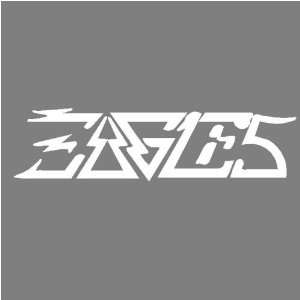 EAGLES (WHITE) DECAL STICKER WINDOW CAR TRUCK TRAILER Automotive