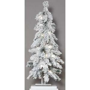 Flocked Snow Pre Lit Mountain Pine Christmas Tree
