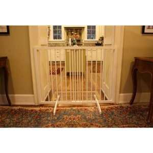 Extra Tall Freestanding Pet Gate White 27.5 inch   51 inch