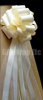 OLIVE OLIVINE 8 PULL BOWS GIFT WEDDING PEW CHURCH DECORATIONS