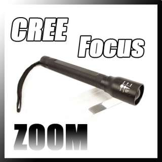 CREE LED Focus LED Lamp Light Hand Torch Flashlight Flash Light