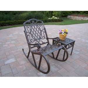 Oakland Living Mississippi Cast Aluminum 2pc Rocking Set