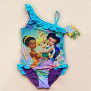 Girls Kids Princess Tinkerbell Swimsuit 2 9Y Tankini Bathing Swimming
