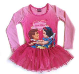 New Disney Princess Girls Dance Costume Leotard Sz 4  7