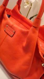 KATE SPADE CORAL TANGERINE LEATHER STRATFORD STEVIE HANDBAG SATCHEL