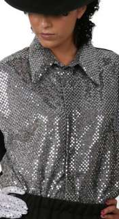 Adult Michael Jackson Billie Jean Style Sequin Shirt
