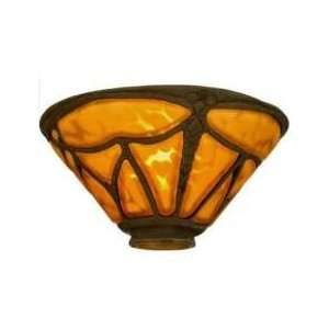 Art Glass Gothic Nouveau   7.5 Dragonfly Bell Shade