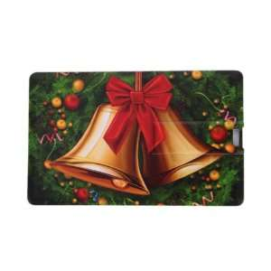 4GB Christmas Bell Pattern Credit Card Style USB Flash