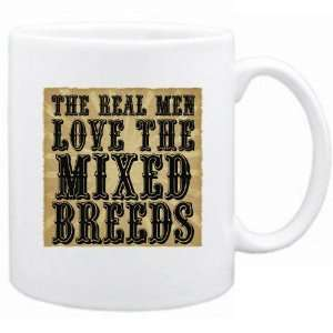 New  The Real Men Love The Mixed Breeds  Mug Dog