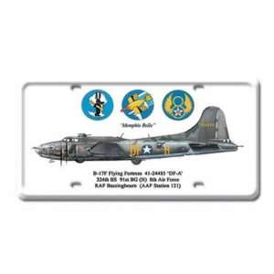 B 17 Jet Air Force Plane Metal License Plate Sign