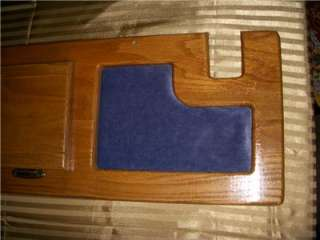 78 95 Chevy GMC Custom Van Rear Bench Seat Oak Wood Cover Trim Panel